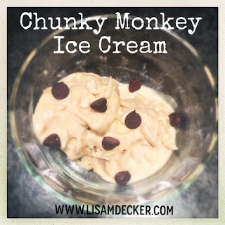 Homemade Chunky Monkey Ice Cream, Fixate Cookbook, 21 Day Fix, 21 Day Fix approved treats, healthy ice cream