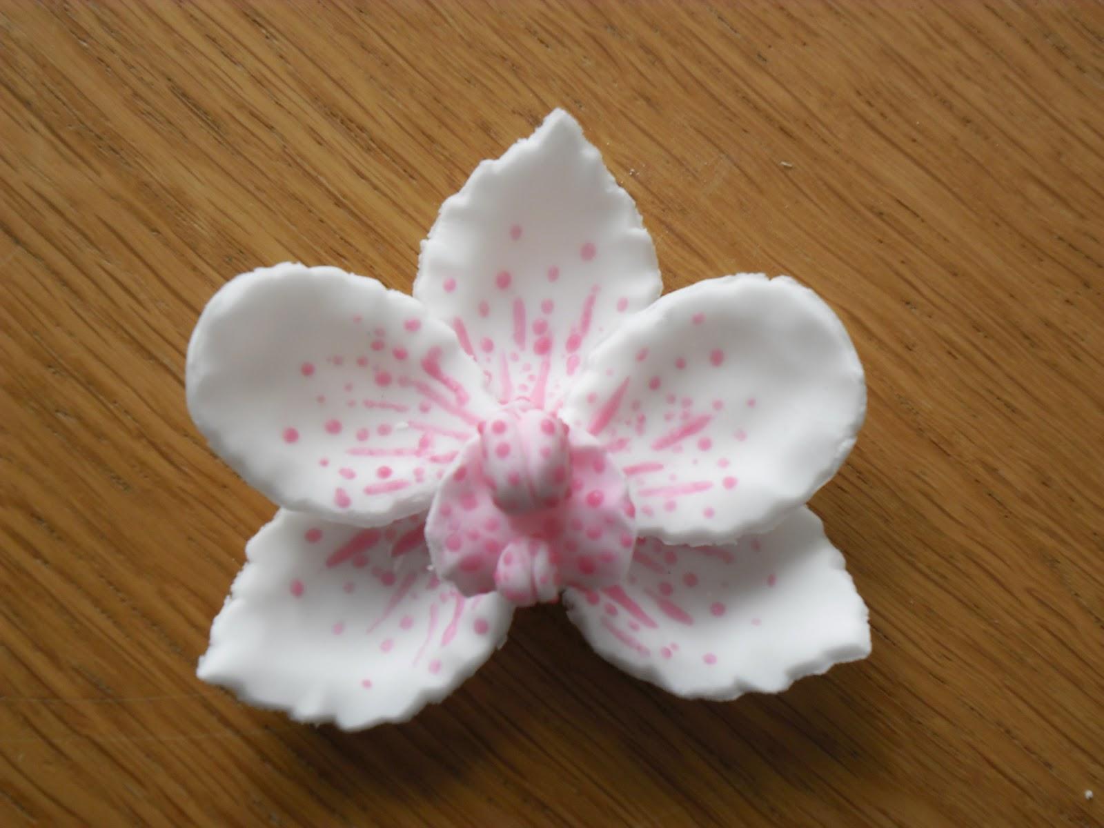 Très Orchidée en pâte à sucre | GATEAUX D'ALINE IB95