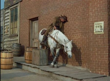 Lee Marvin drunk riding horse Cat Ballou 1965