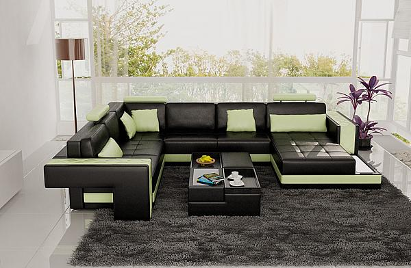 Modern Small Living Room Design With Modern Black Furniture