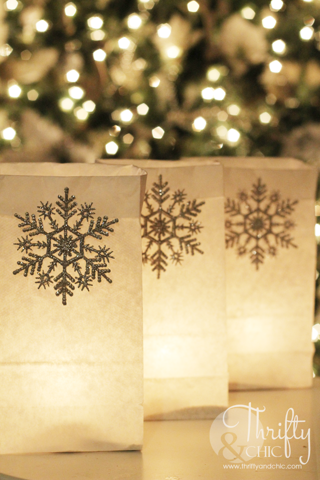 DIY Luminarias instead of Christmas lights or even with Christmas lights on your house!