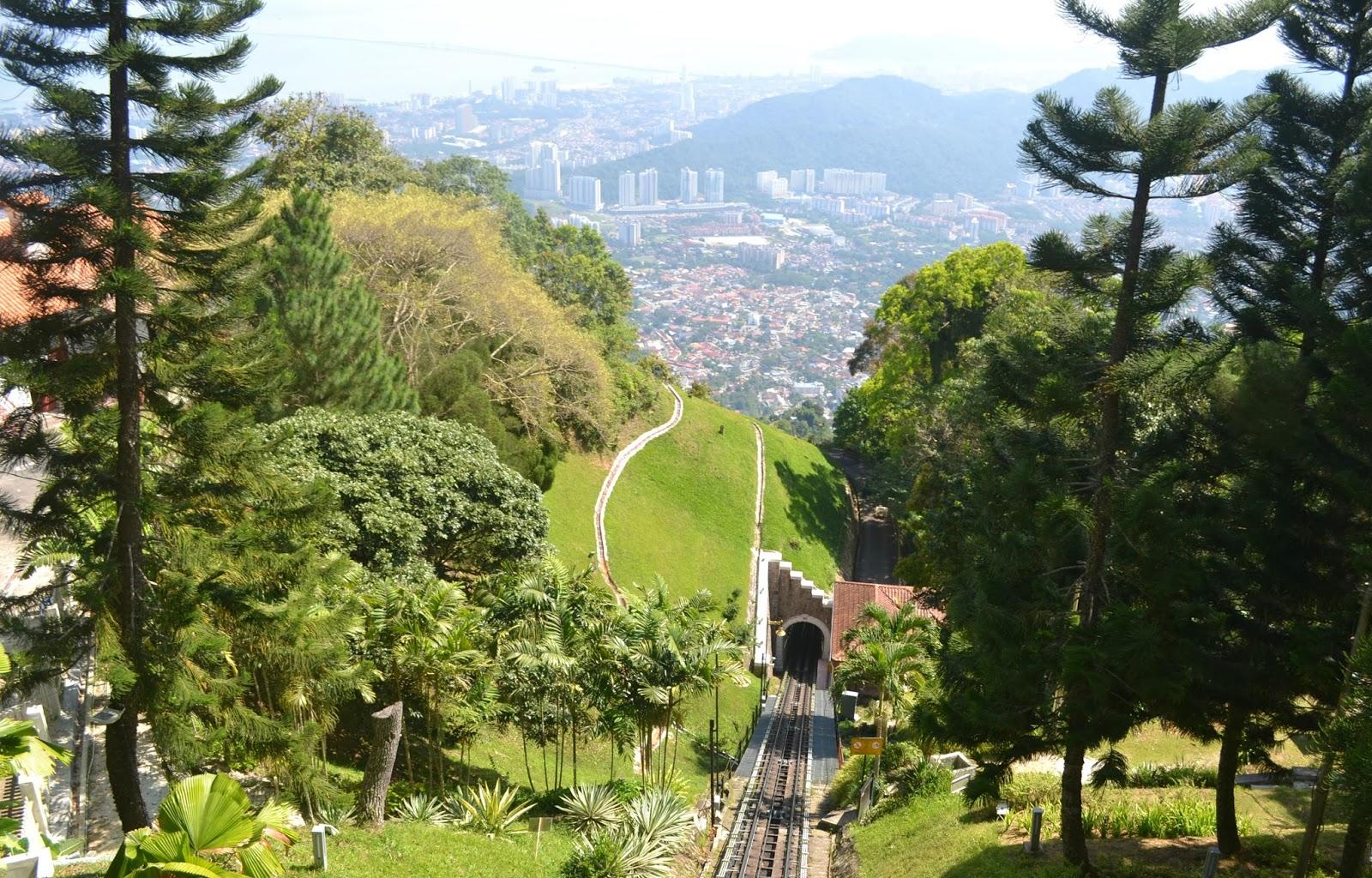 funicular train penang hill malaysia