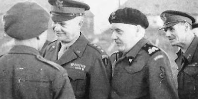 General Maczek with General Eisenhower