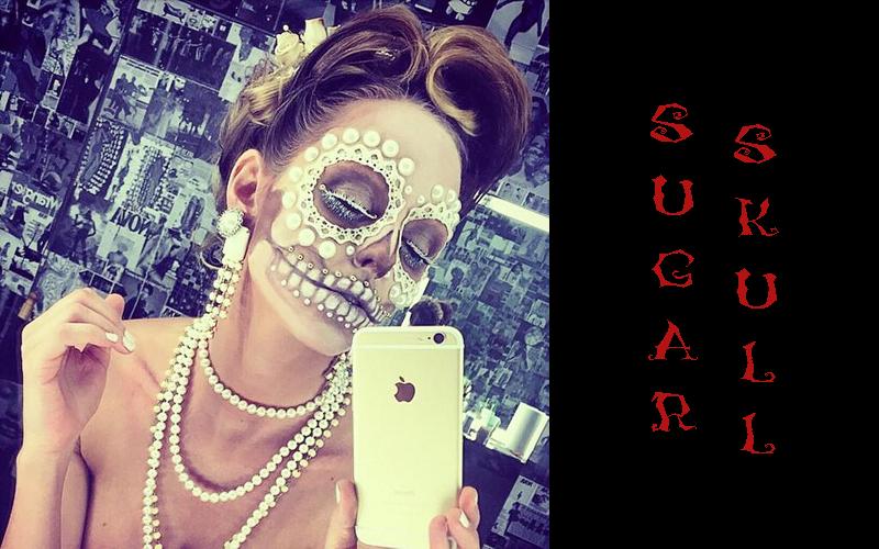 sugar skull halloween makeup idee instagram