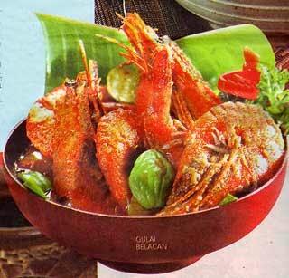 Makanan Khas Indonesia gulai belacan