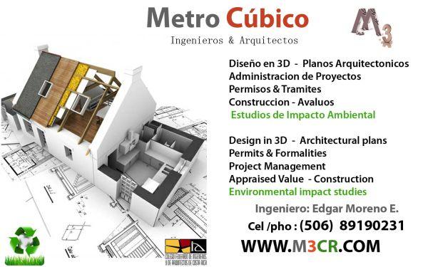 Ingenieros arquitectos metro cubico for Planos de obra civil
