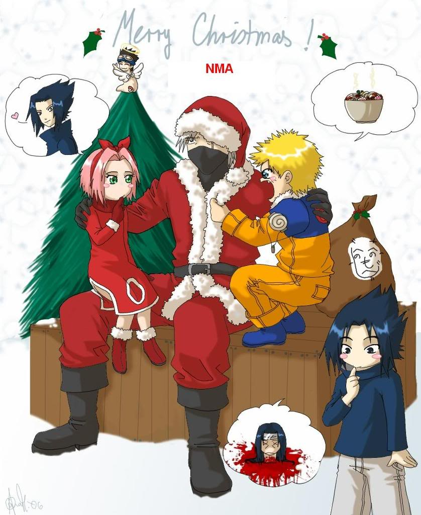 becareful to what youre wishing for - Naruto Christmas