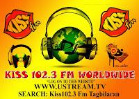 Kiss FM Bohol 102.3 Mhz logo