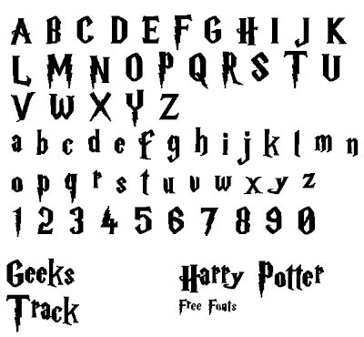 Free download harry potter font for mac and windows