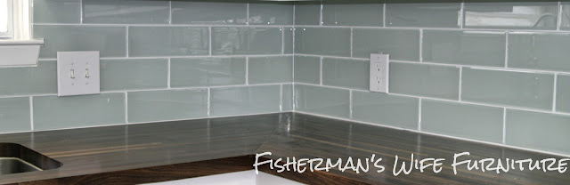 DIY glass tile backsplash, subway tile installation
