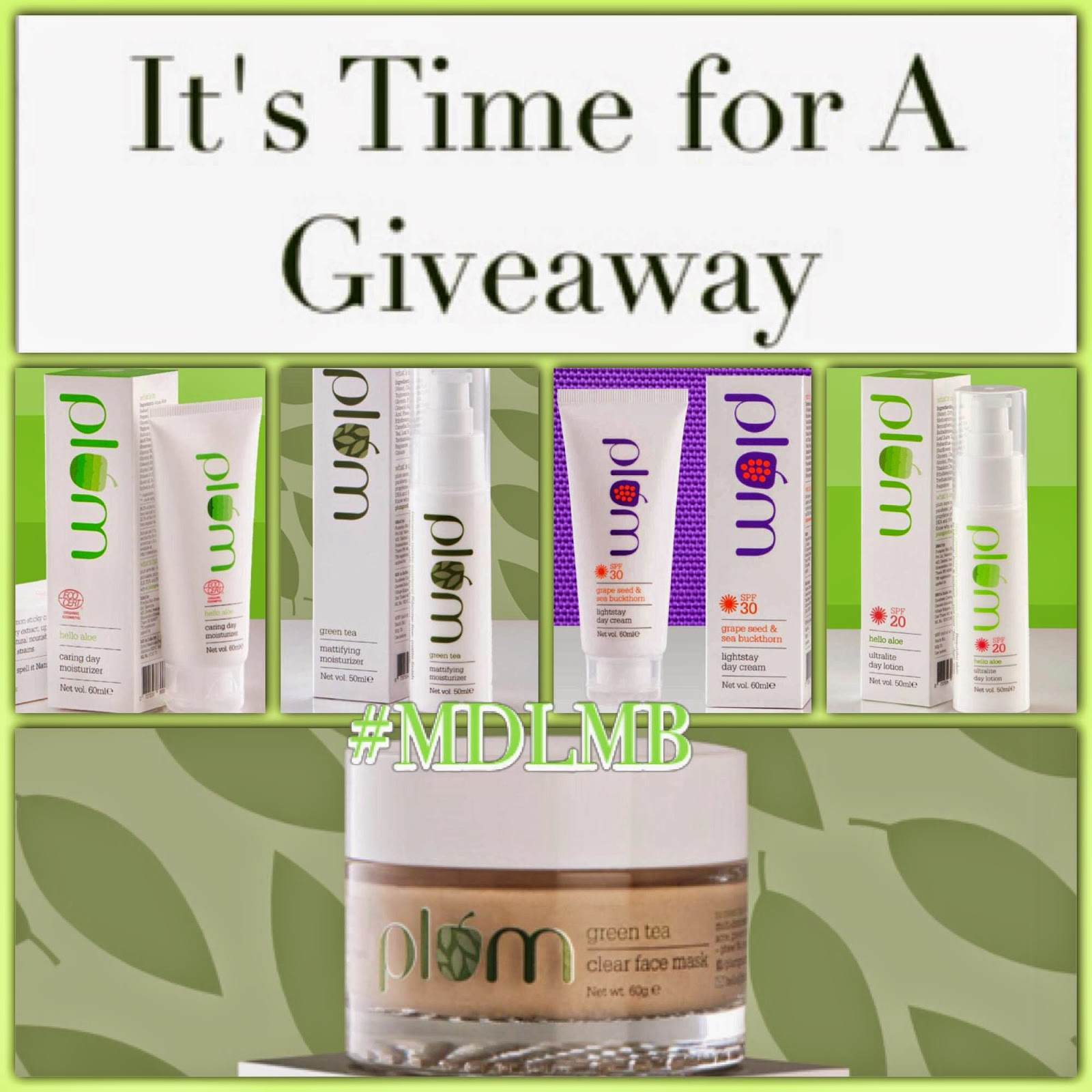 Instagram Giveaway: Summer Ready with Plum Goodness | MillionDollarLooks Makeup & Beauty Blog, Win skin care products from Plum goodness, paraben free skin caare products, Beauty giveaway, indian makeup and beauty blog, Indian beauty blogger, Giveaway India, contest giveaway, win free goodies india