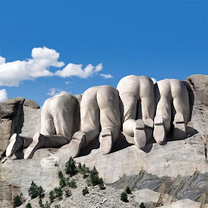 The other side of Mount Rushmore