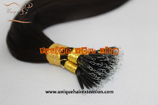 nano ring hair extensions Peruvian hair