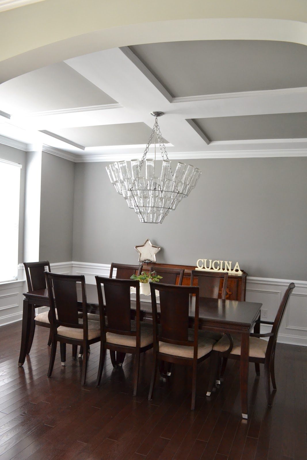Shades of gray paint medium gray laforce be with you for Medium dining room ideas