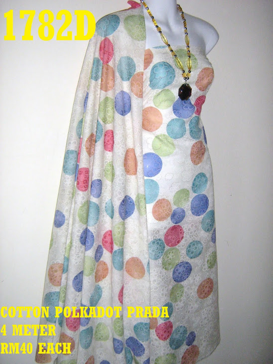 CP 1782D: COTTON POLKADOT PRADA, 4 METER