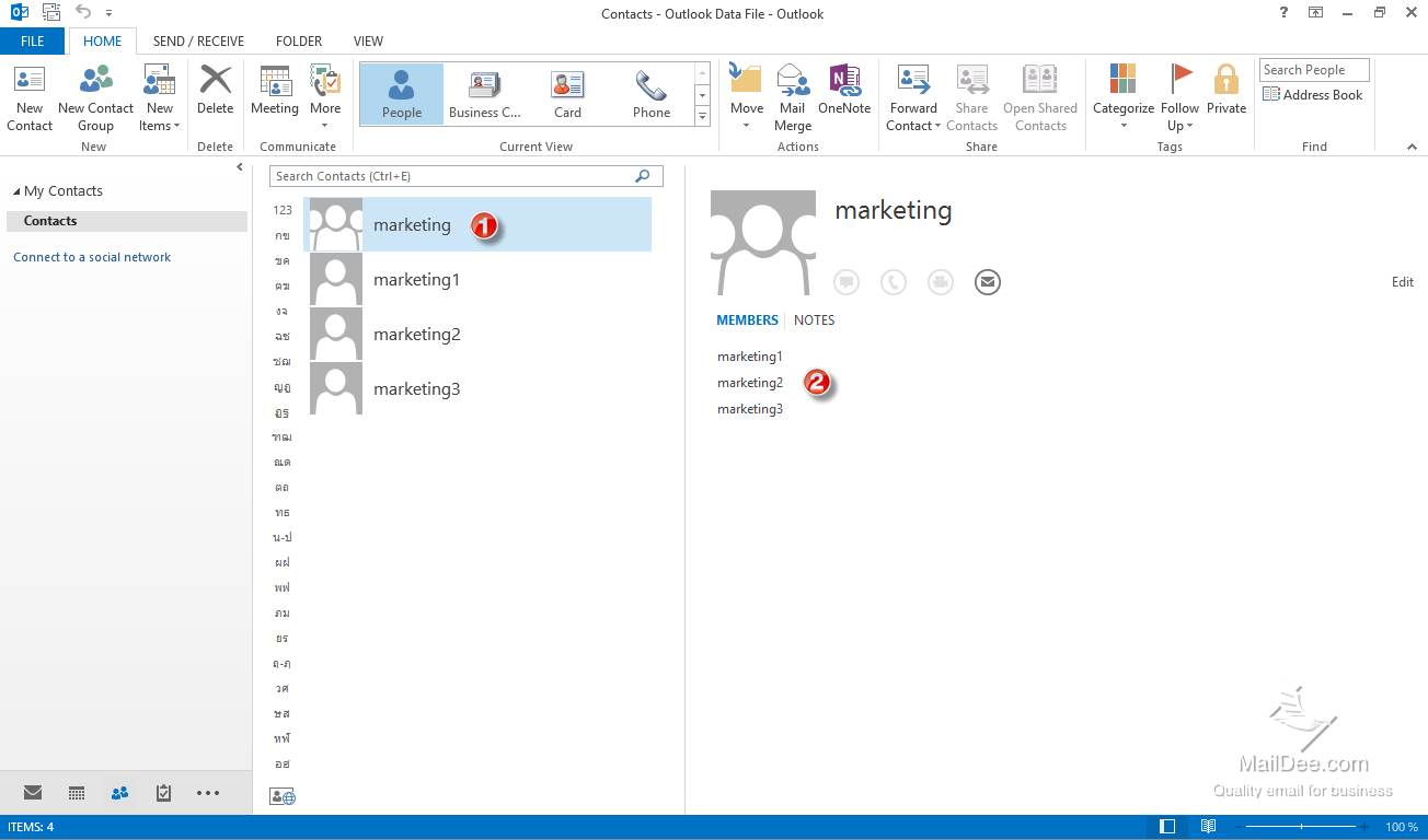 how to create group email in outlook 2010