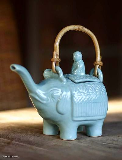 ceramic elephant teapot