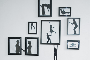 Style decorating ideas with silhouettes for wall