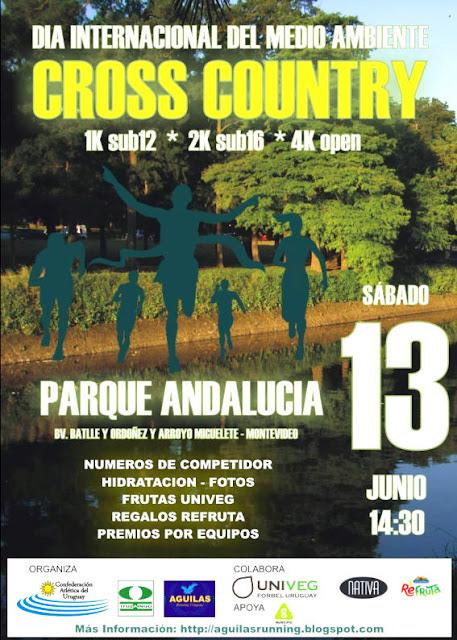 Cross country sub 16 Día del medio ambiente en parque Andalucía (Montevideo, sáb 13/jun/2015)