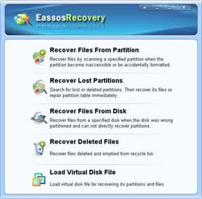 Download Eassos Recovery 3.9.1.127 data recovery software program Portable