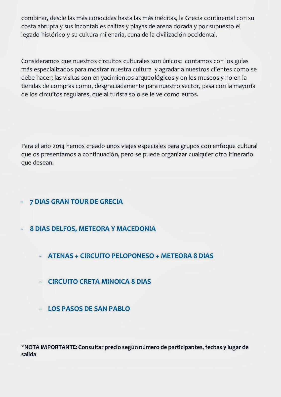 Circuito Grecia : Delegación extremeña de la sociedad española de estudios clásicos