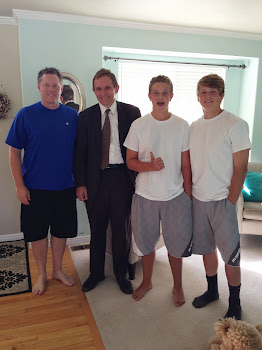 Parker's Ward Mission Leader, Brother Schindler,  at Our House!