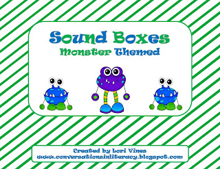 monster themed Elkonin Sound boxes