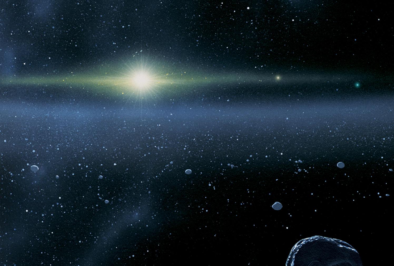 Vành đai Kuiper. Hình minh họa bởi Johns Hopkins University Applied Physics Laboratory/Southwest Research Institute (JHUAPL/SwRI).