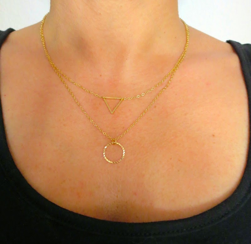 Layered Cutout Geo necklace