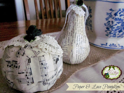 Paper & Lace Modpodged Pumpkins tutorial