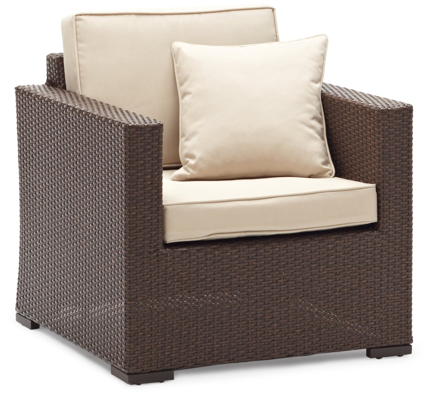 Strathwood Griffen Furniture All Weather Wicker Chair Dark Brown Strathwood Outdoor Patio