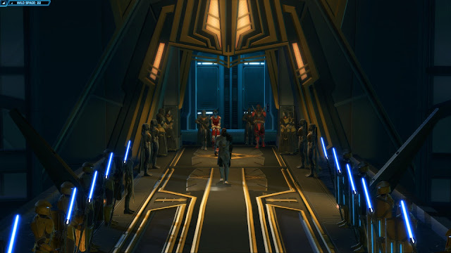 Star Wars: The Old Republic, Knights of the Fallen Empire, Chapter I The Hunt zakuul throne room
