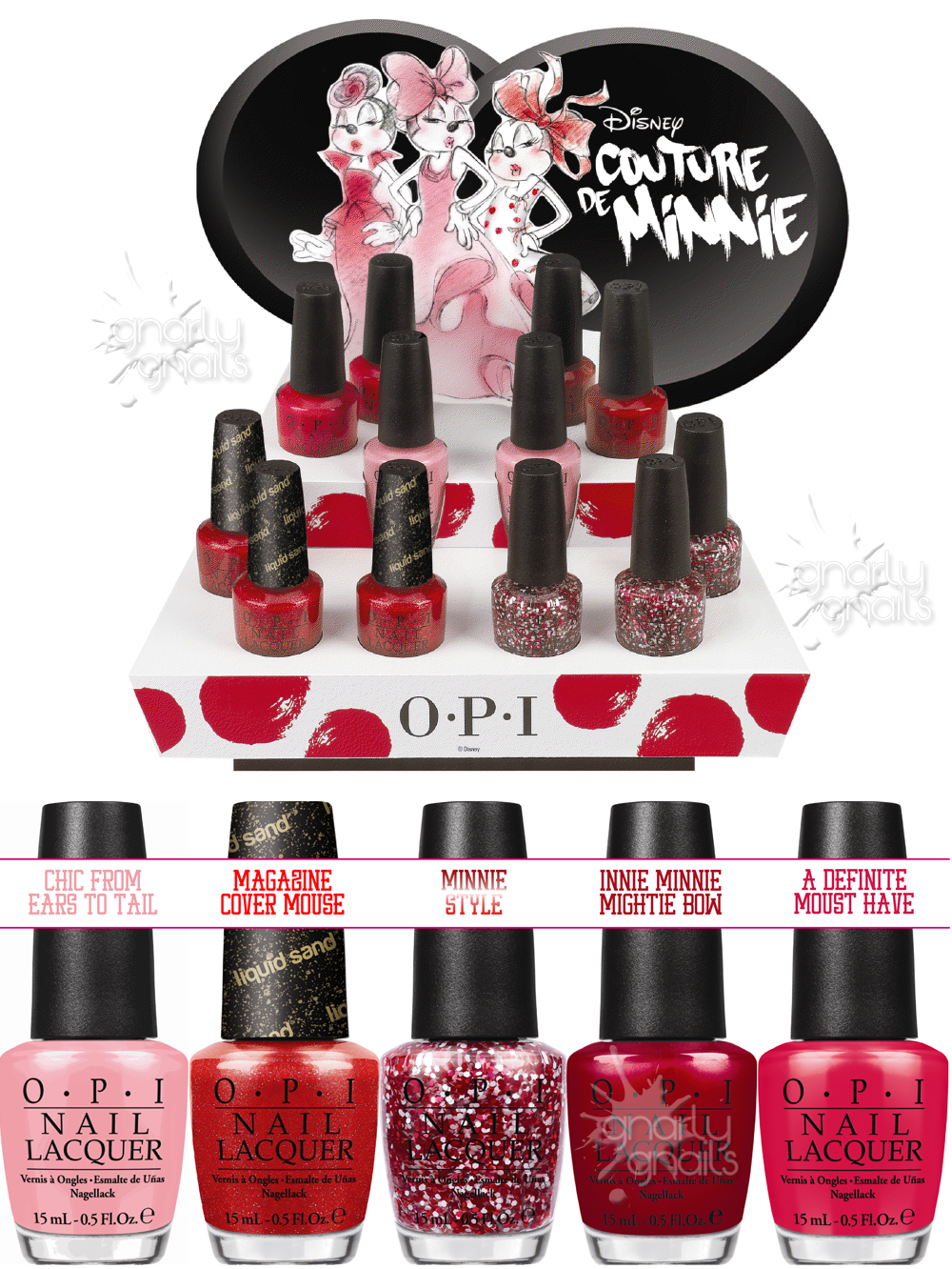 Gnarly News: OPI Walks the Runway with New Couture de Minnie