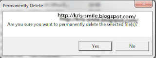 delete pemanen dengan klik kanan