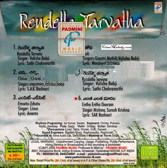 Rendella Tarvatha 2005