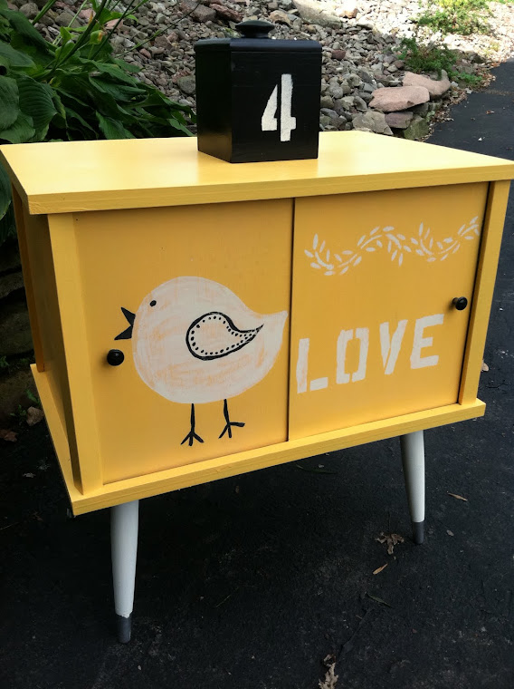 Retro Lovebird Cabinet