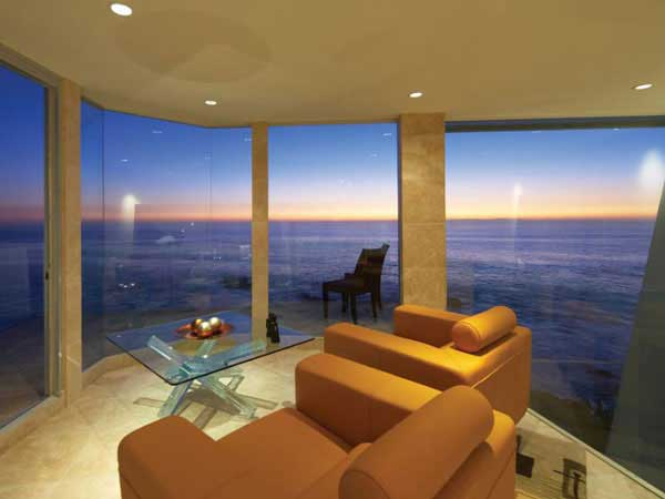 Photo of ocean sunset as seen from the gallery