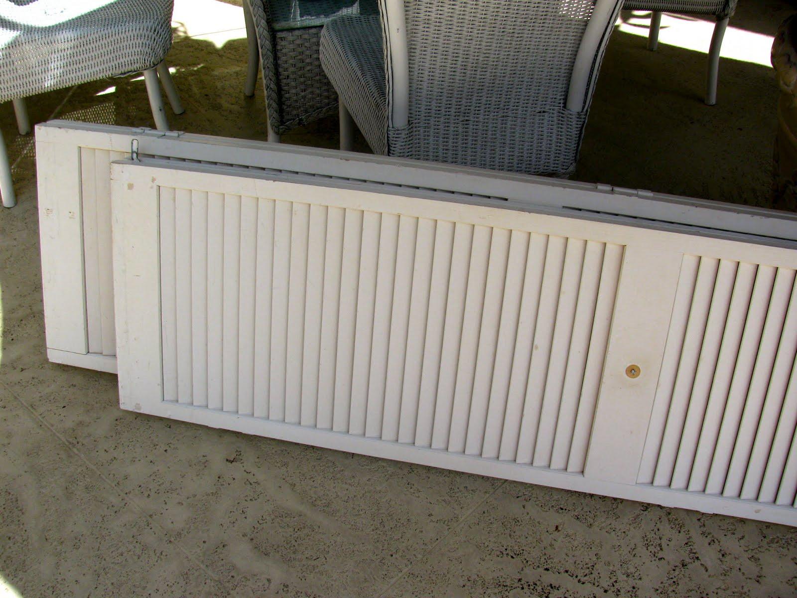 1200 #2F2D22 MAY DAYS: Salvaged Louver Doors wallpaper Louvered Garage Doors 38251600