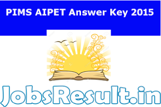 PIMS AIPET Answer Key 2015