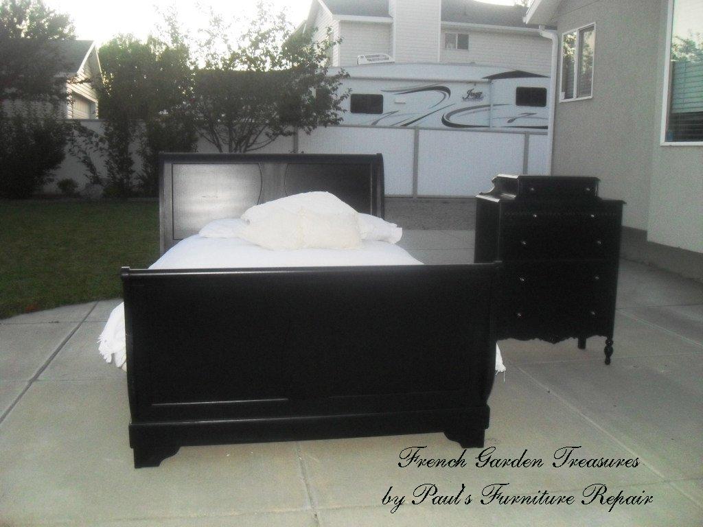 Garden treasures black queen sleigh bed 300 sold thanks trevor