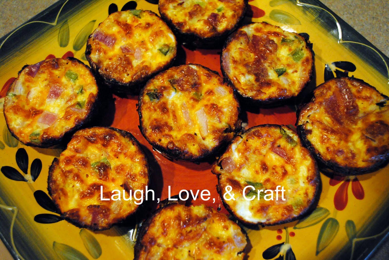 Laugh, Love, and Craft: Crustless Quiche Muffins