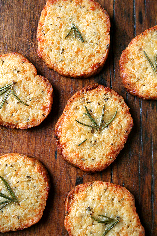 on the menu: parmesan-rosemary crackers - Sacramento Street