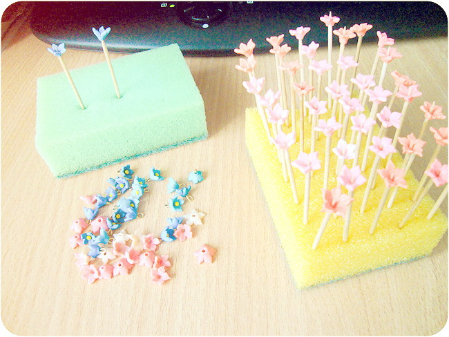 Flowers, Handmade, Polymer Clay