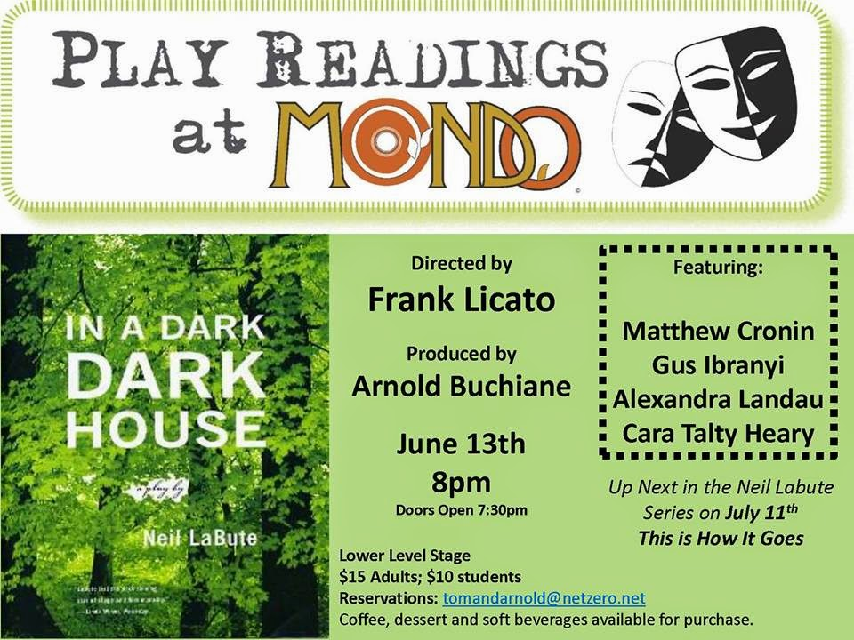 New Jersey Footlights Next Frank Licato Play Reading At Mondo In