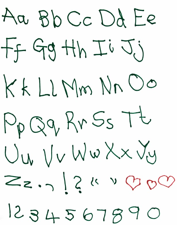 Child Handwriting Font