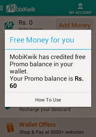 mobikwik rs 60 promo code popup