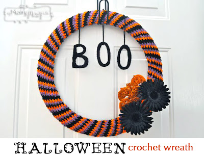 free crochet pattern halloween wreath