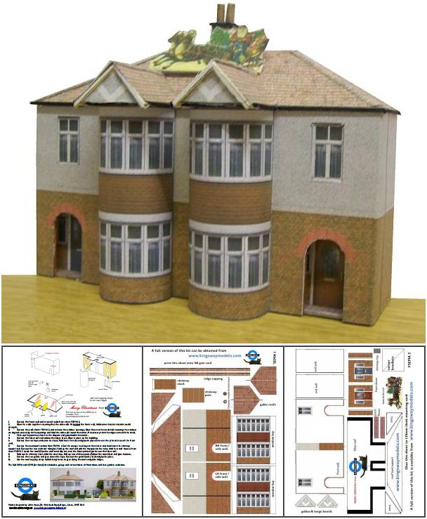 Papermau british architectural paper models in ho scale for Building model houses