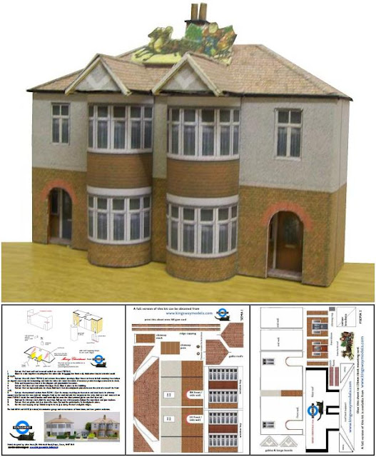 Papermau british architectural paper models in ho scale Building model homes