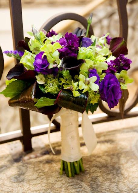 Purple And Lime Green Bouquet Wedding Stuff Pinterest